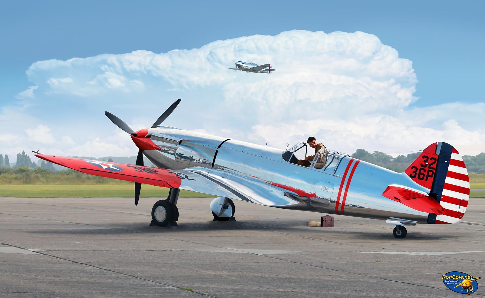 рисунок Curtiss YP-37