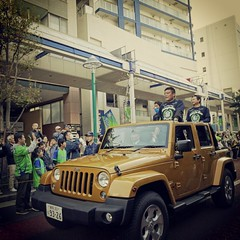 Champions! #bellmare players&coaches parade with 2014 J2 trophy. #Shonan101 #NonStopFootballShonan #latergram