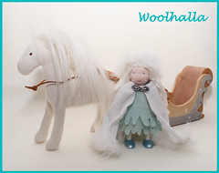 Snow Queen, Ice Horse & Sleigh Set