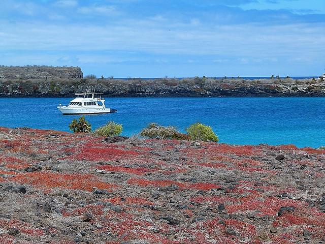 Barco en isla Plaza Sur (Galápagos)