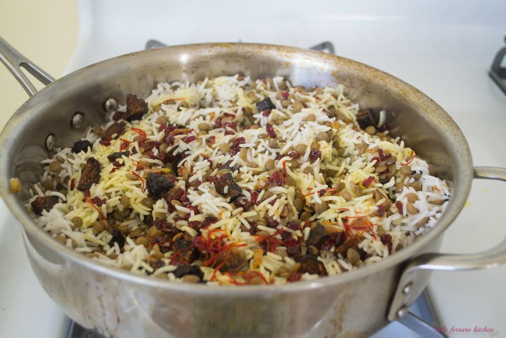 Adas Polow (Persian Rice and Lentils) via LittleFerraroKitchen.com