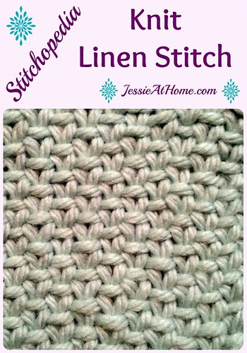 Stitchopedia Knit Linen Stitch from Jessie At Home