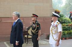 Michael Fallon at India Gate