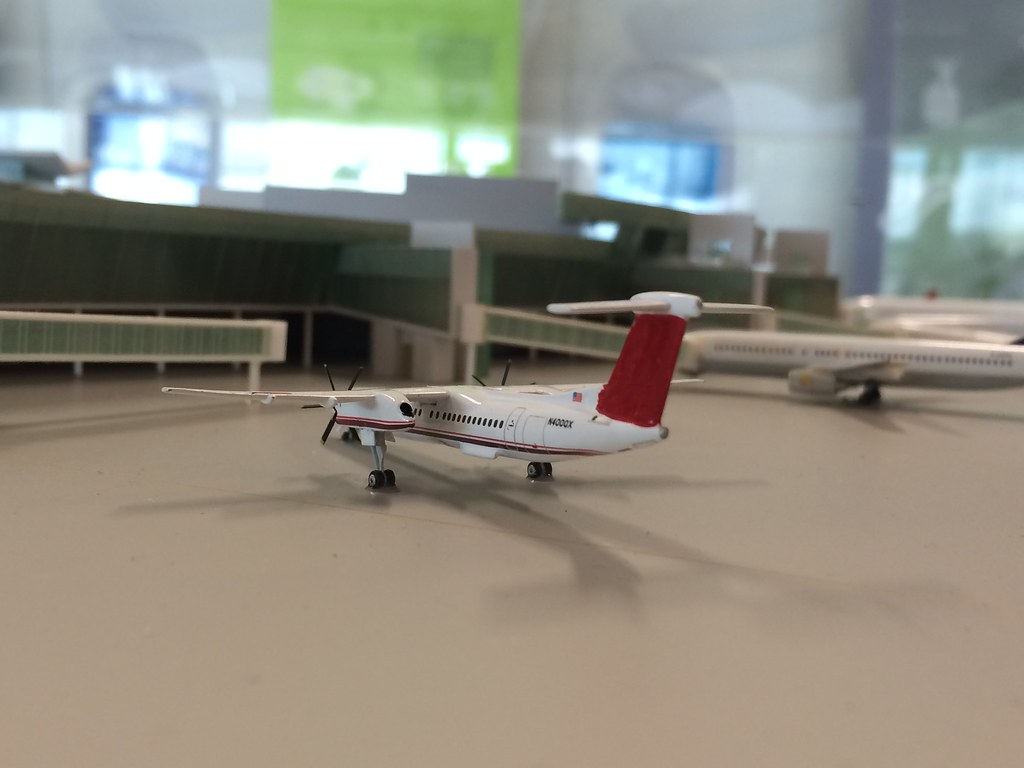 Trip to Canberra: Model plane at Canberra Airport