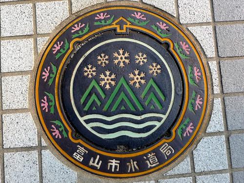Toyama city Toyama pref, manhole cover 2 (富山県富山市のマンホール2)