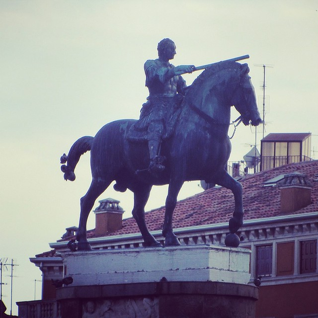 Equestrian of Condottiero Gattamelata by Donatello
