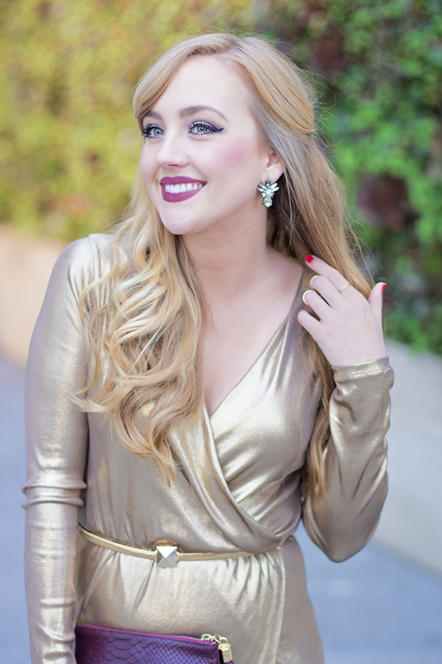 gold dress holiday party