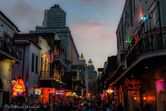 Sunset on Bourbon St.