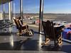 Relaxing at National Airport, Washington, DC