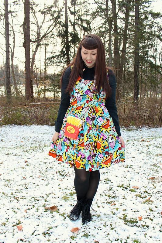 junk food print dress