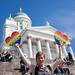 showing rainbow love