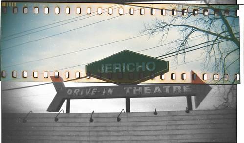 Jericho Drive-In Marquee in splitfilm