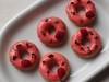 Raspberry cake donuts with white chocolate rose ganache glaze