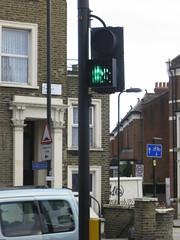 Covered traffic light
