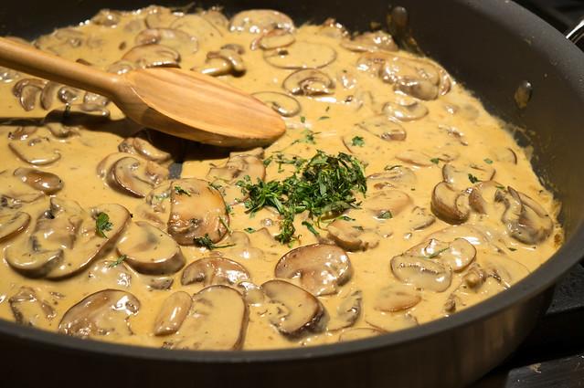 mushroom cognac sauce