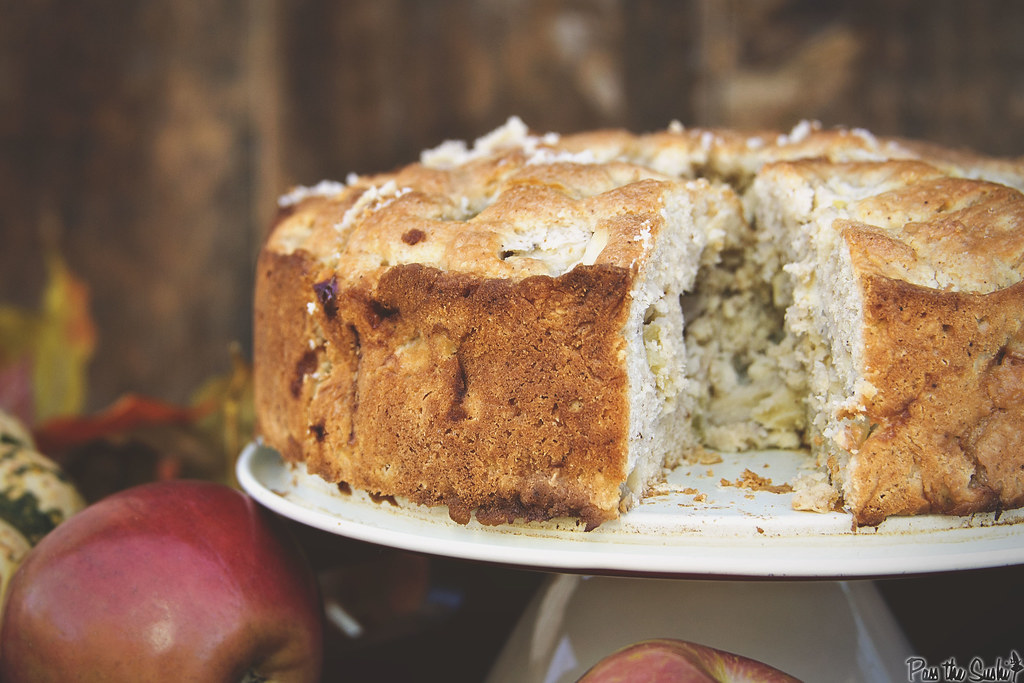 Irish Apple Cake with Boozy Custard || Pass the Sushi