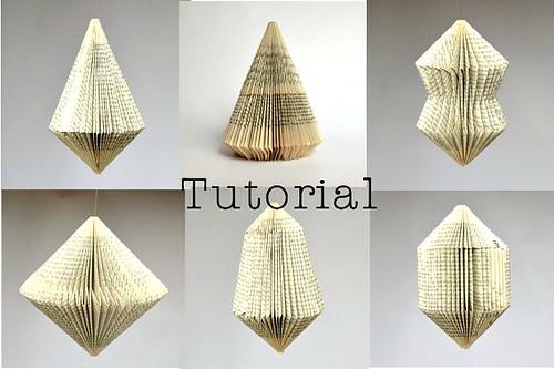 Six Book Ornament Tutorials from Paper Statement