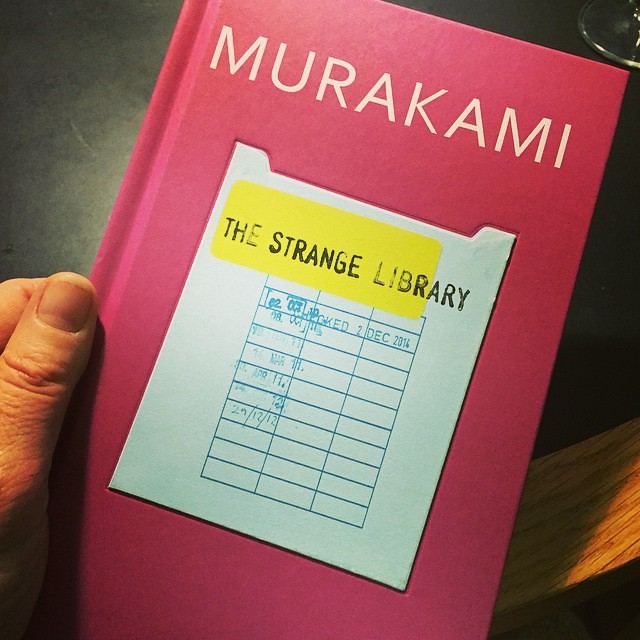 10/12.2014 - look what came today? #murakami #thestrangelibrary