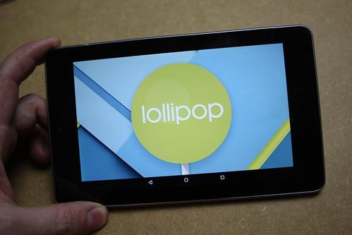 Android 5 sur Nexus 7