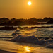 Makalawena beach sunset