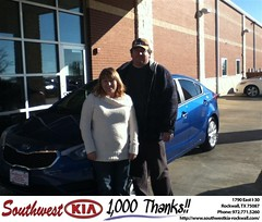 #HappyAnniversary to April & Scott Conway on your 2014 #Kia #Forte from Gary Guyette  at Southwest KIA Rockwall!
