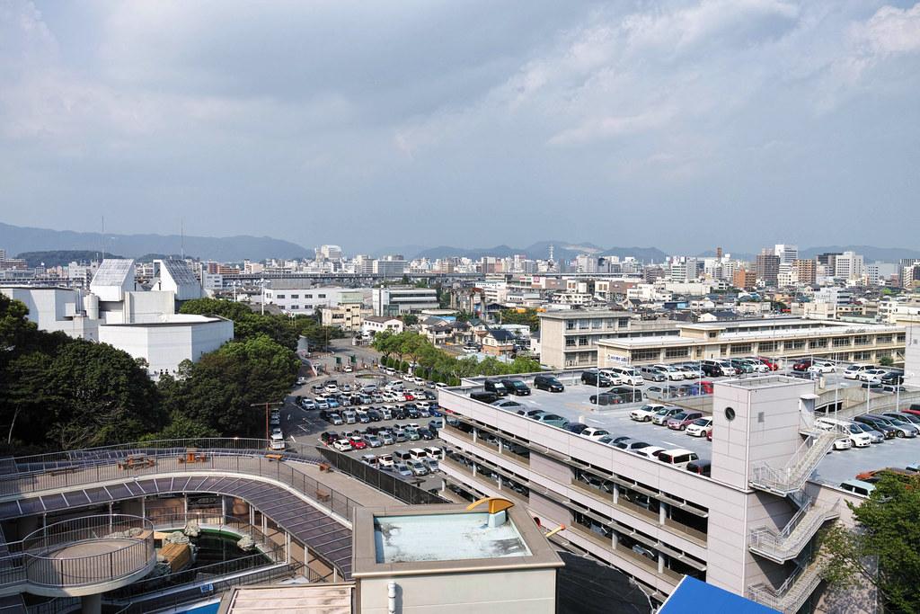 手柄山駅から姫路市を見下ろす