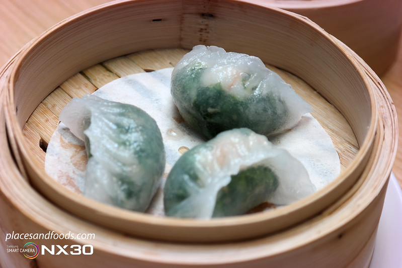 tim ho wan spinach dumpling with prawn