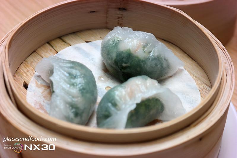 tim ho wan spinach dumpling with prawn