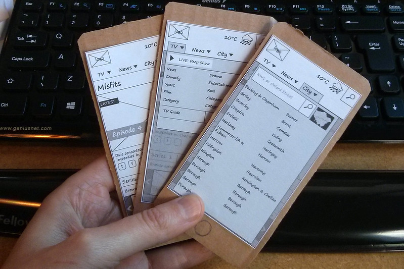 mobile cardboard prototypes