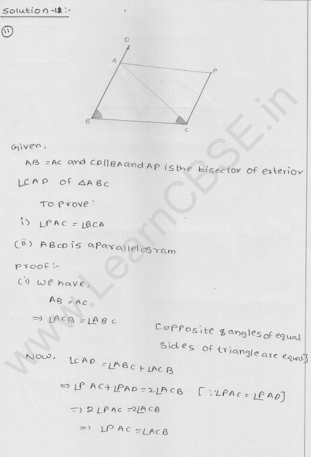 RD Sharma Class 9 Solutions Chapter 14 Quadrilaterals Ex 14.4 10