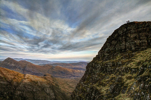 sunset mountain landscape scotland assynt
