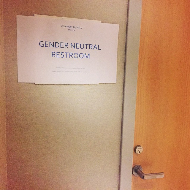 One day this will be the norm. Until then we simulate the future to respect the #LGBTQ people we serve #safebathroomsdc