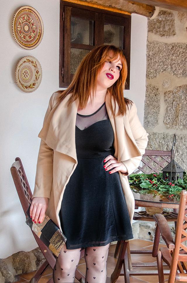 Look para navidad con un little black dress