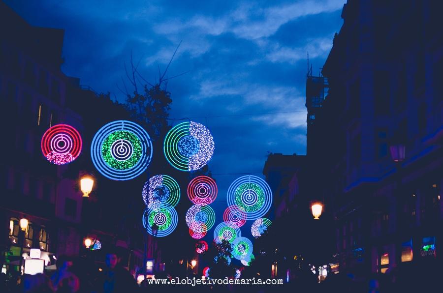 el diciembre de Madrid y sus luces