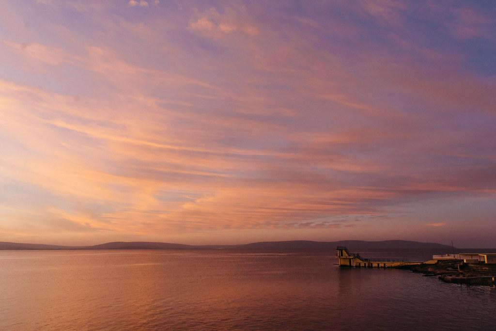 Pink Orange Sunrise in Galway Bay, Ireland