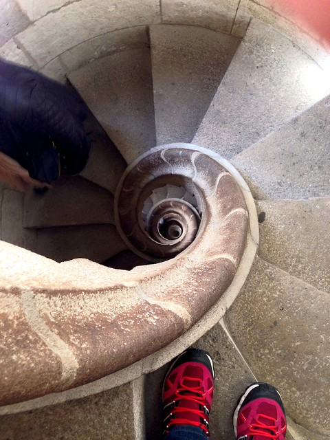 Spain Barcelona La Sagrada Familia spiral stairs