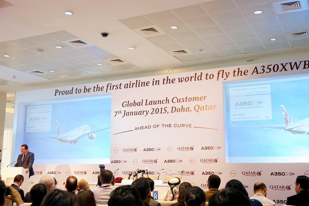Qatar Airways  Launch of the Airbus A350XWB