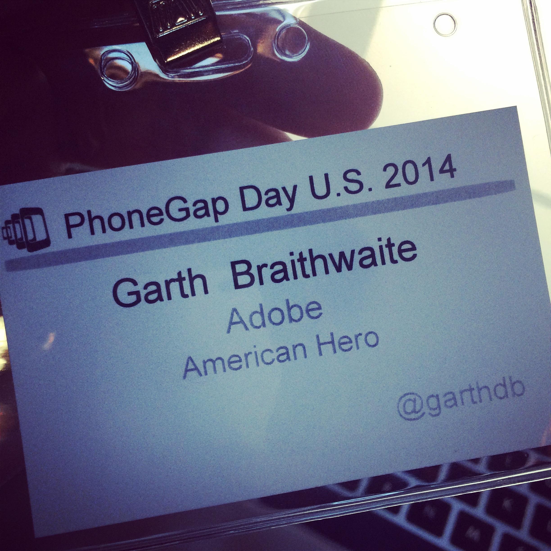 Garth Braithwaite American Hero