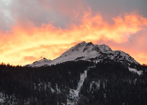 schnee sunset snow mountains colors österreich sonnenuntergang pentax berge landschaft farben abendsonne abendstimmung lermoos grubigstein zugspitzarena pentaxart pentaxk3