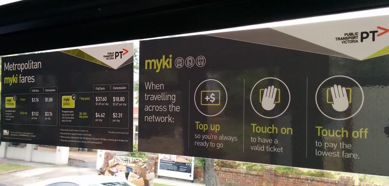 Myki 2015 bus signage