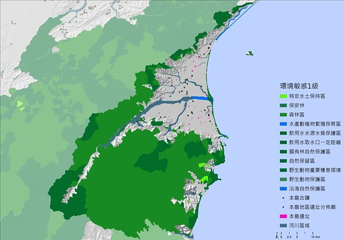 宜蘭縣將法定保護區全數列入一級環境敏感區。(圖片來源:宜蘭縣政府建設處簡報)