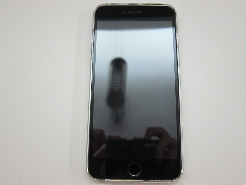 Power Support - Air Jacket Force (Clear) for iPhone 6 Plus - With iPhone 6 Plus Front