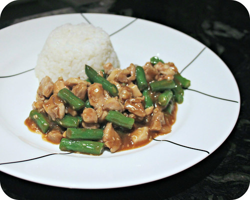 Sesame Chicken and Green Beans