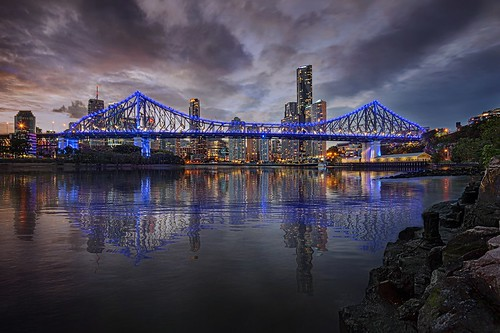 city nightphotography travel reflection river fun reisen nikon cityscape australia brisbane queensland brisbaneriver digitalmanipulation longexposurephotography nikond800