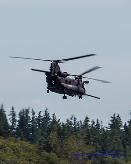 MH-47G Flying Back to Paine Field