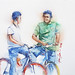 Chatting on bike