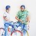 Chatting on bike