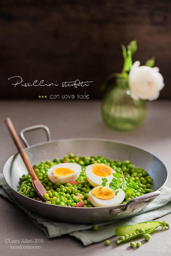 pisellini stufati e uova sode