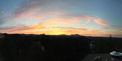 Home sweet sunset panorama