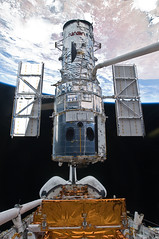 View of Hubble during Its Release from the Shuttle Atlantis
